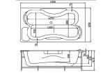 Badewanne rechteckig Victory SPA Lanzarote mit Hydromassage 190x120cm, system 4, weiß