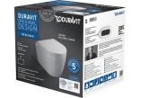 Duravit ME by Starck Set WC hängend Compact Duravit Rimless mit Sitz WC- wolnoopadającą,Farbe weiß