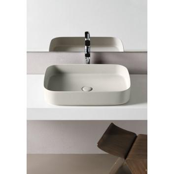 Waschtisch Cielo Shui Comfort, zum Aufsetzen, rechteckig, 60x40 cm, polvere